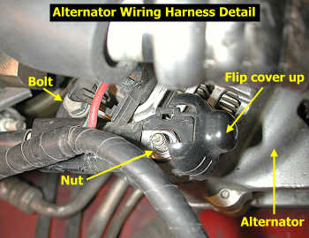 Alternator wiring harness