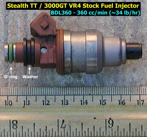 Stock fuel injector - side